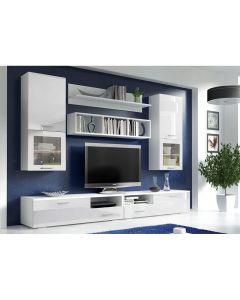 Foggia, modern vonalvezetésű nappali bútor fehér-fehér